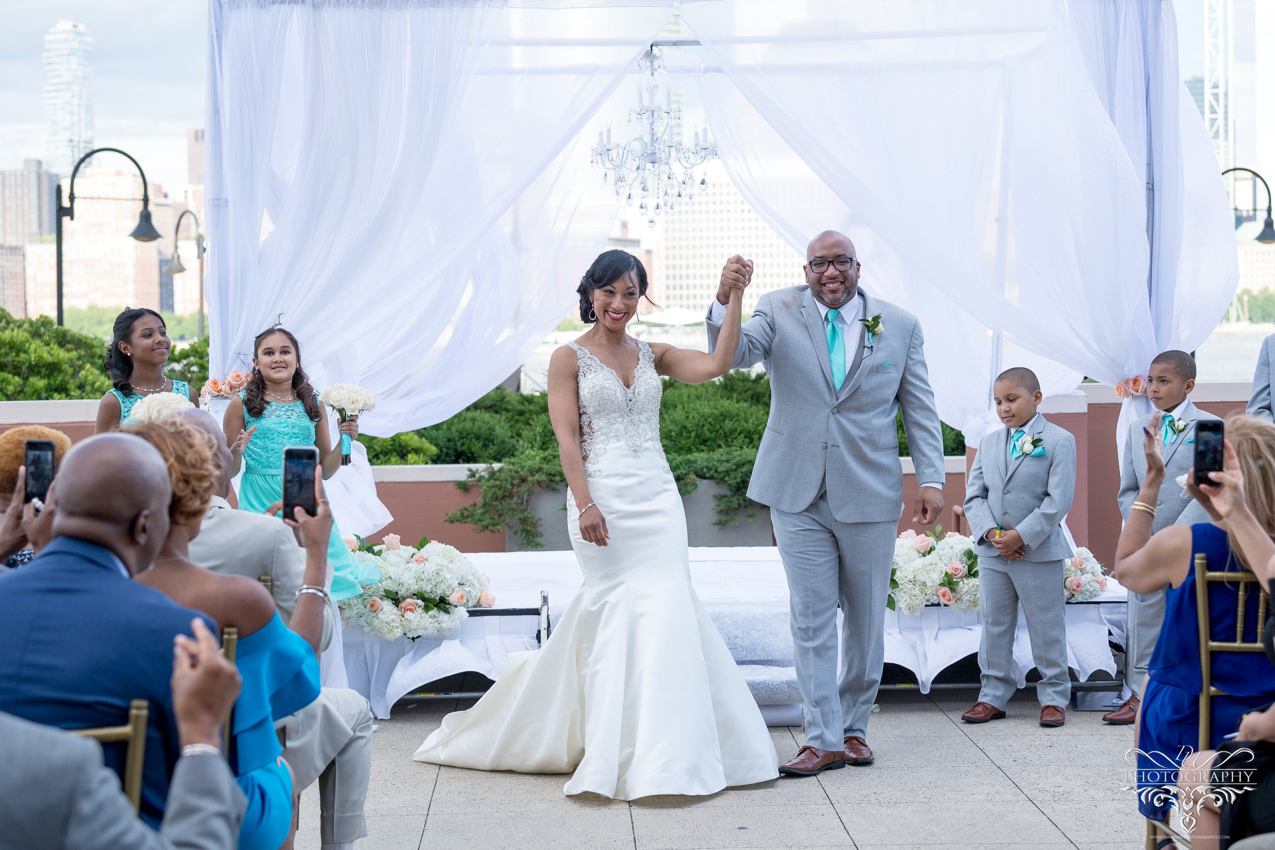 Hyatt Regency Jersey City On The Hudson Wedding That Provided Me With A Beautiful Cityline Backdrop During Ceremony And Bride Groom Session